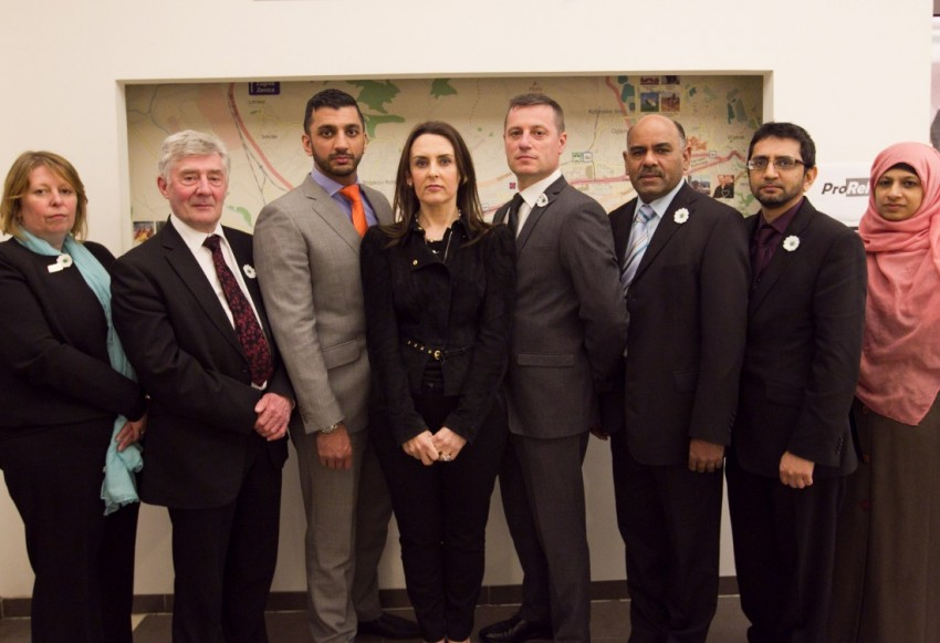 Elinor Chohan and the delegation from Manchester