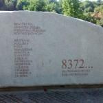 Monument at Potocari Memorial Centre