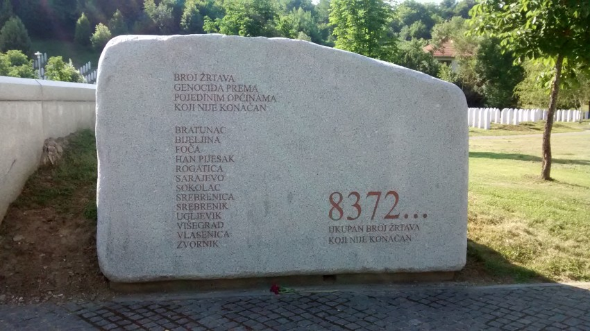Monument at Potocari Memorial Centre