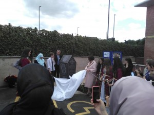 unveiling the monument