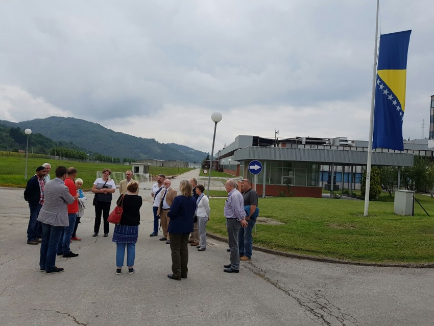 Visiting Potocari, where the Dutch troops handed over thousands of people to the Bosnian Serbs