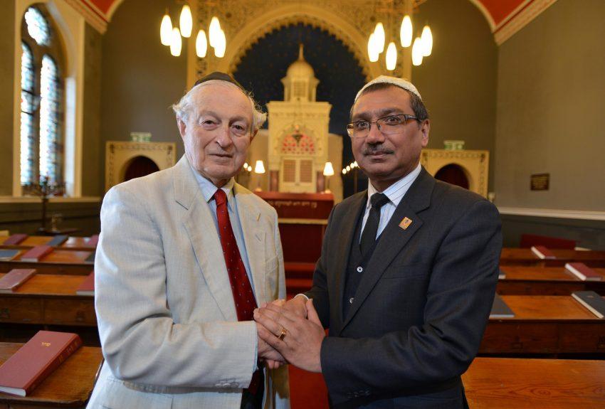 Jani Rashid with the Chairman of the Synagogue