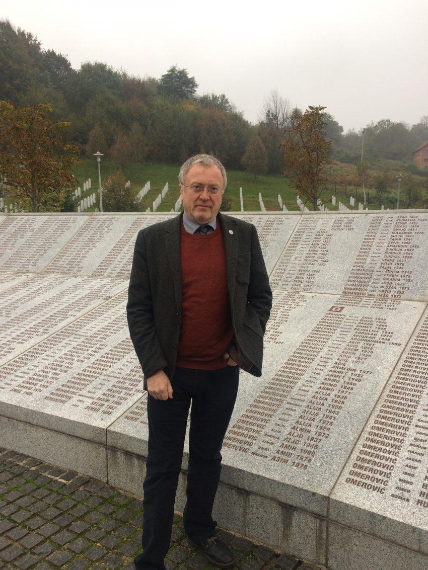 Richard Burden in Potocari