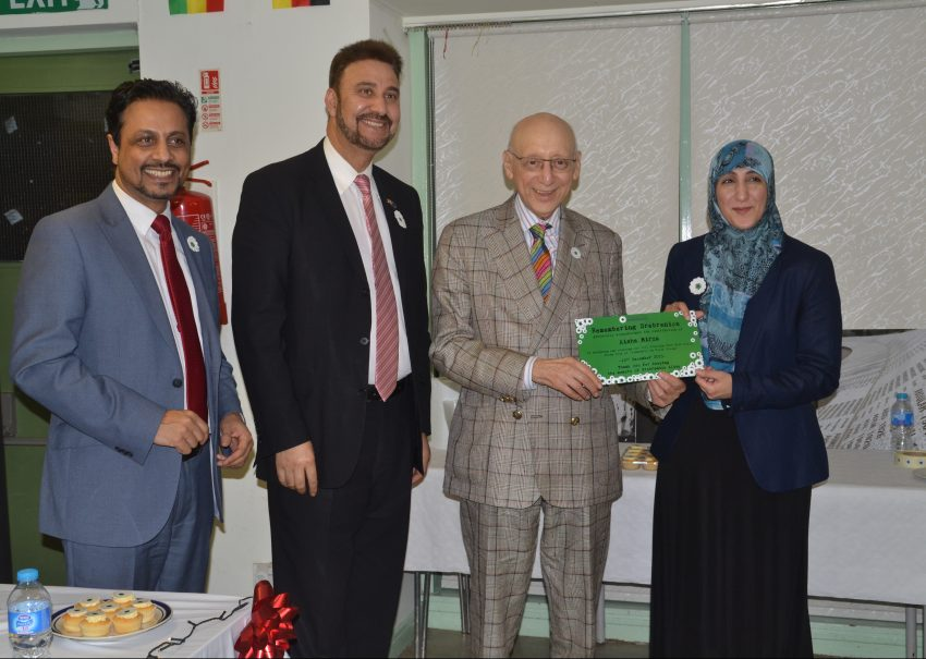 Sir Gerald Kaufman MP at Remembering Srebrenica education event